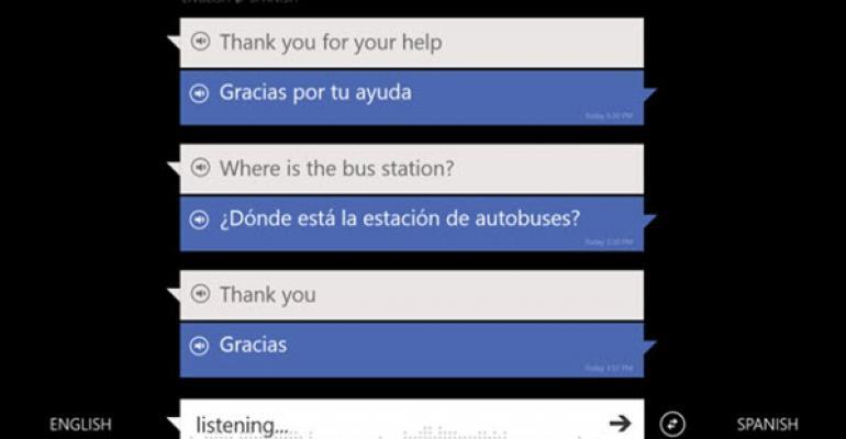 Bing Translator App Updated for Windows 8 and Windows Phone 8 with Speech-to-Speech Input