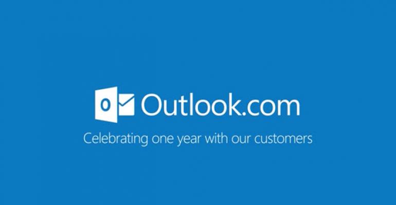 Outlook.com Turns One, Celebration Packages Available