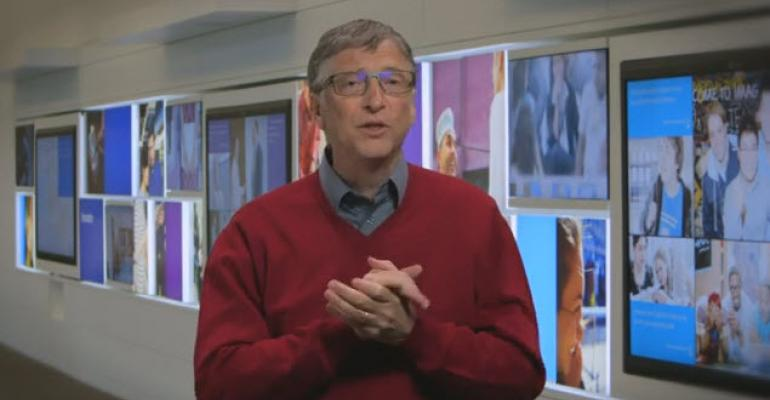 Watch Gates, Ballmer, and Thompson Welcome Satya Nadella to the Captain's Chair