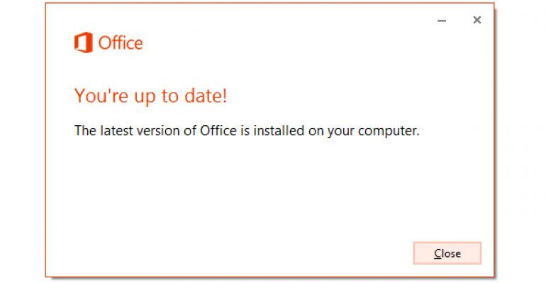 Office 2013 Tip: Force the SP1 Update on Office 365