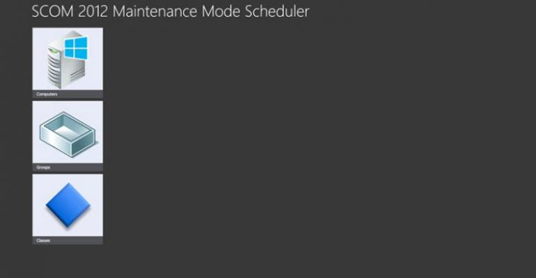 Schedule Maintenance Mode for OpsMgr 2012 with New Tool