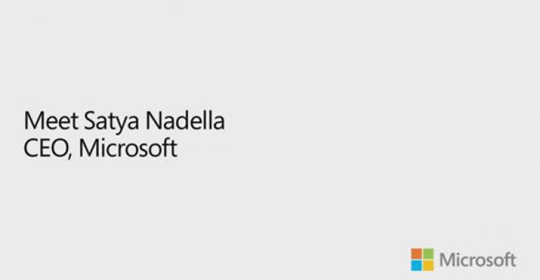 Satya Nadella's First Interview as CEO of Microsoft