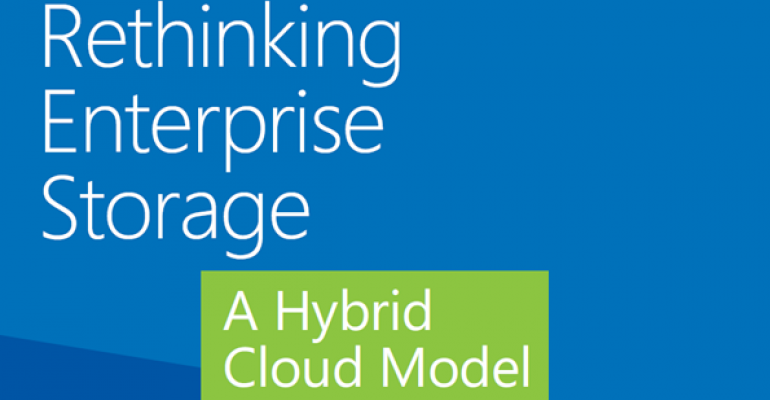 Free eBook on Hybrid Cloud Storage