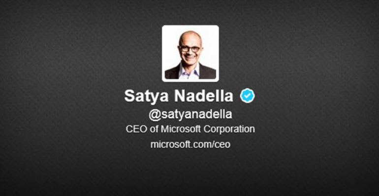 Satya Nadella's Twitter Account Finally Verified, Sends His First Tweet since 2010