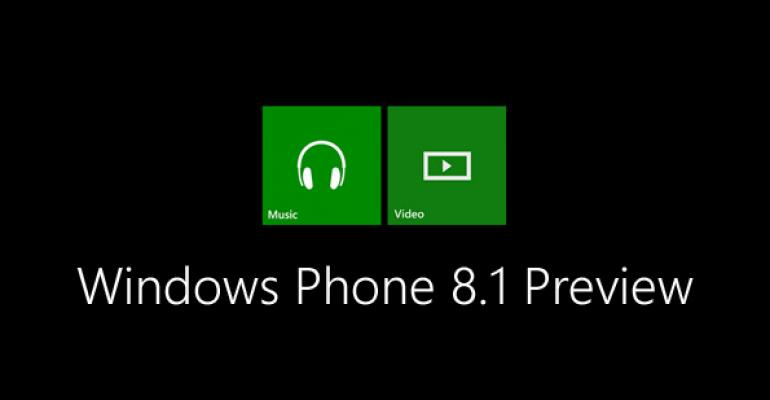 Windows Phone 8.1 Preview: Xbox Music and Video