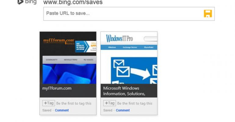 Bing Saves Seeks to Curate, Categorize and Socialize the Web