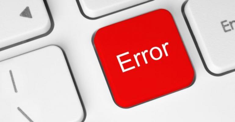Red Error key on keyboard