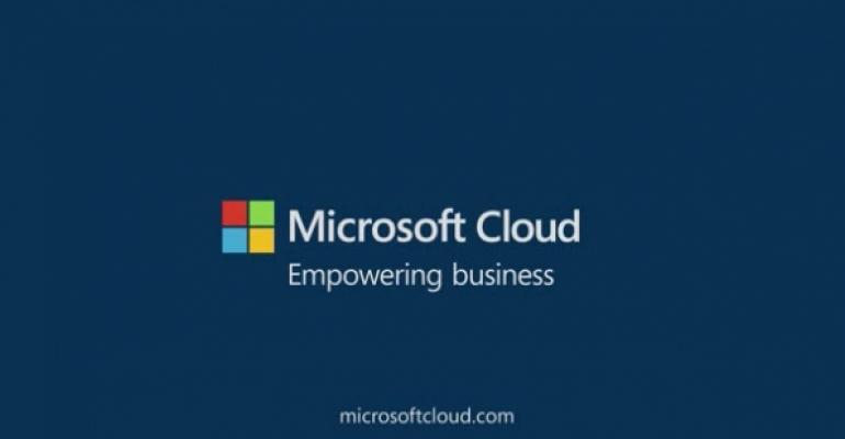 Microsoft Cloud logo on dark blue background