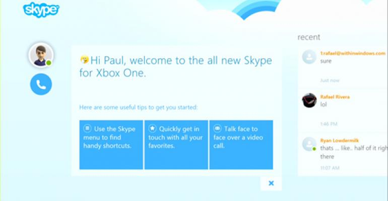 Skype for Xbox One Updated