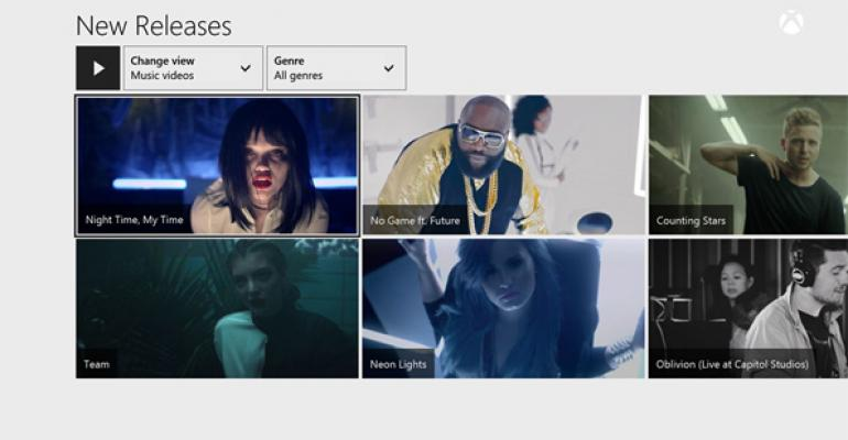 Music Videos Arrive on Xbox One