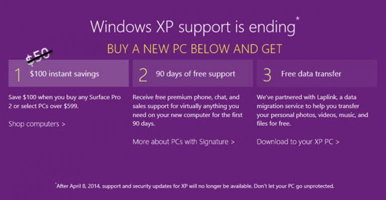 Microsoft Ups the Ante for Buying a New PC to Rid the World of Windows XP