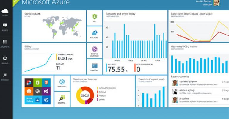 The new Azure Preview Portal