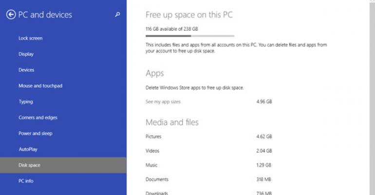 Windows 8.1 Update 1 Tip: Manage Disk Space