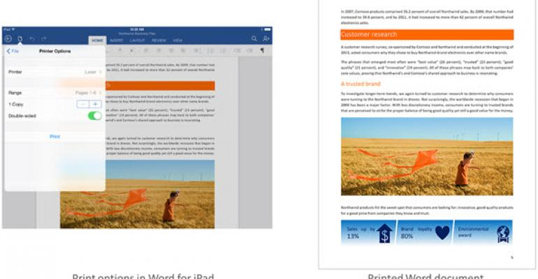 Microsoft Adds Printing Capability to Office for iPad
