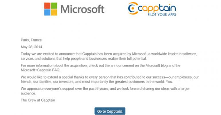 Microsoft Acquires Mobile Analytics and Push Notifications Company, Capptain