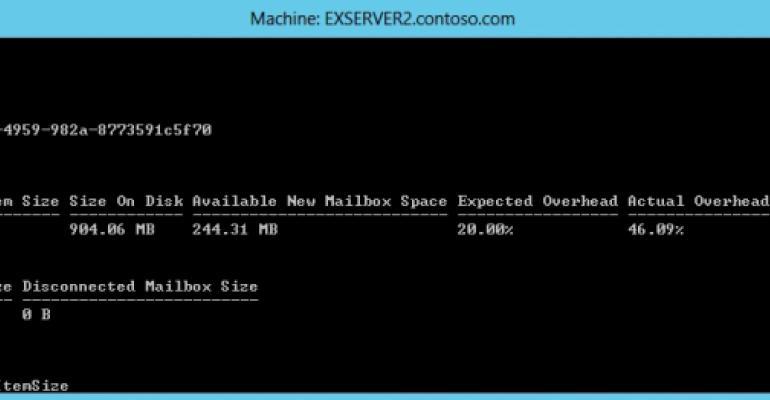 Understanding the overhead in an Exchange mailbox database
