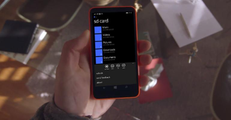 Files App for Windows Phone 8.1