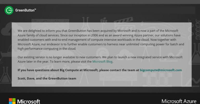 Microsoft Acquires GreenButton, New Customers: Keep Out