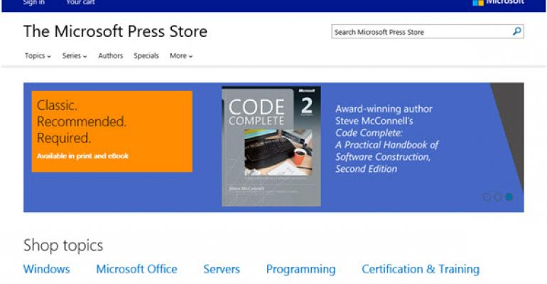The New, Pearson-Hosted Microsoft Press Online Store Opens for Business