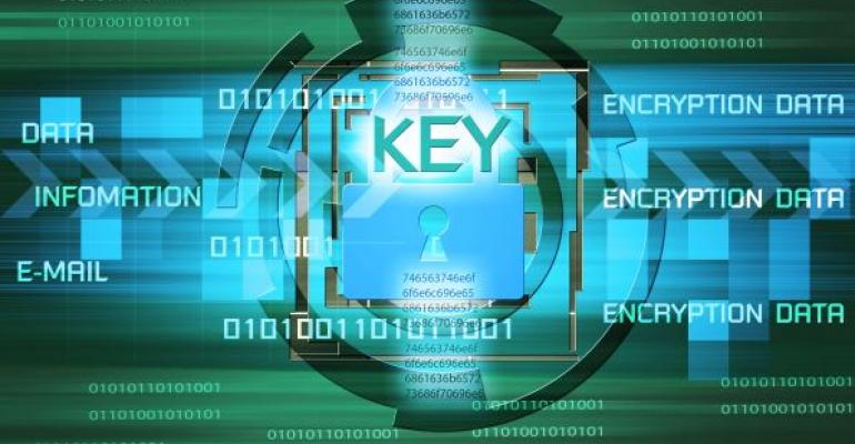 Illustration of data security and encryption