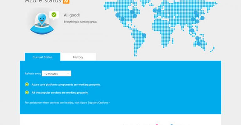 Azure Status Dashboard Improved With Personalization and RSS