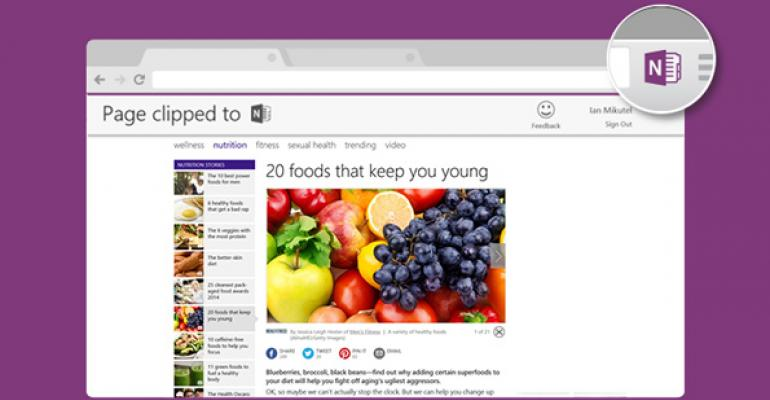 OneNote Clipper Comes to Chrome