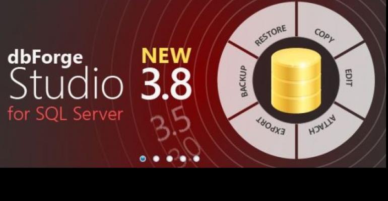dbForge Studiow for SQL Server version 38