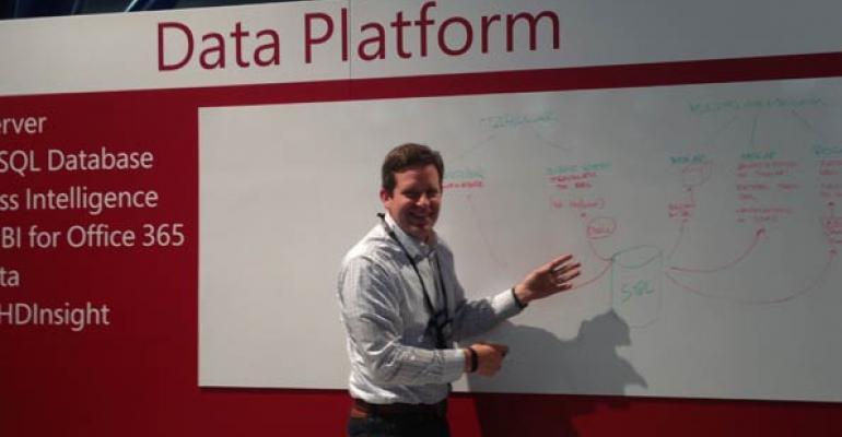 Eron Kelly explaining improvements made to SQL Server 2014