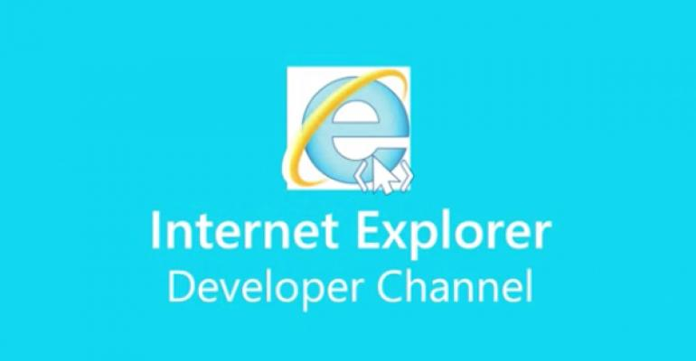 Microsoft Launches IE Developer Channel