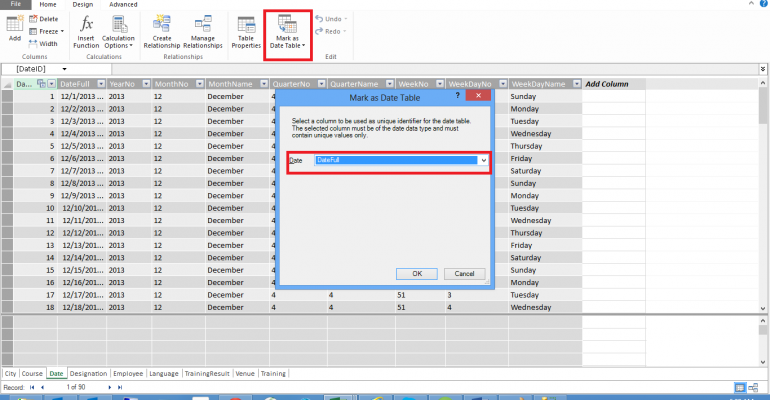 Creating a Power Pivot Data Model in Excel 2013