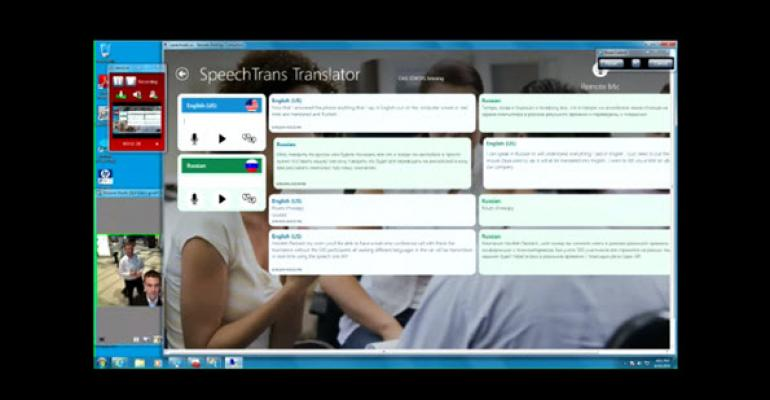 The Bing Translator Competitor, SpeechTrans, Demos at HP Discover