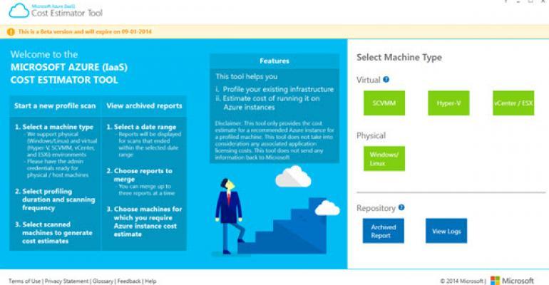 Microsoft Azure Cost Estimator Tool Released in Beta