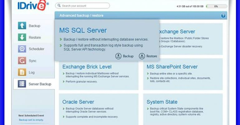 New Service: Backup SQL Server in the Cloud with IDrive