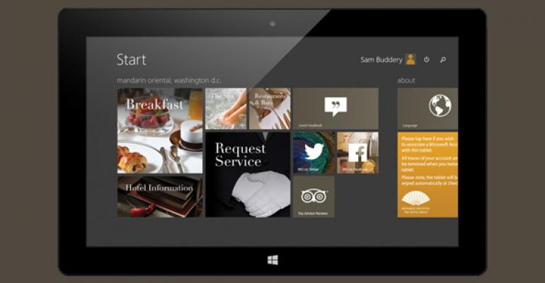 Surface Pro 3 + Mandarin Oriental Hotels