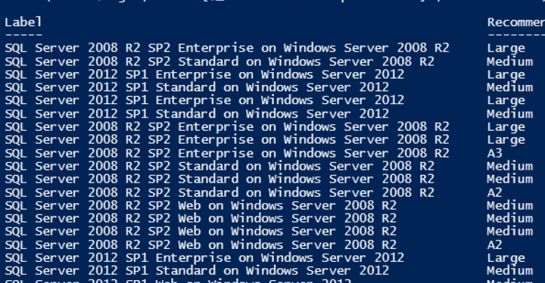 PowerShell list of SQL Servers available