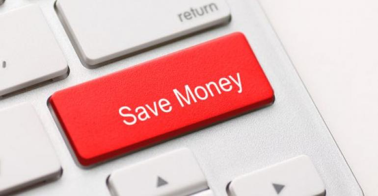 Save money red computer keyboard key