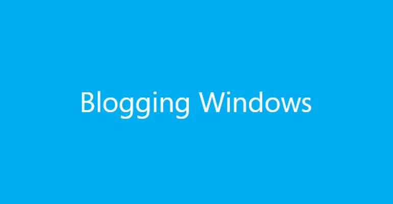 Microsoft Consolidates Windows Blogs Around One Windows