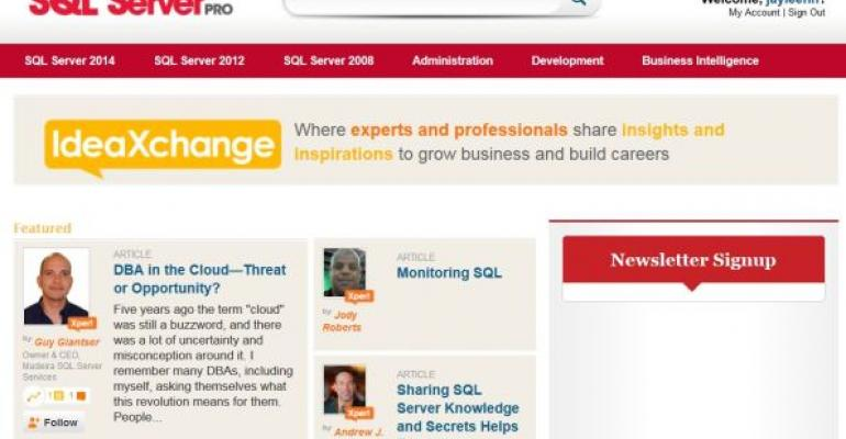 IdeaXchange: What It Means for SQL Server Pro
