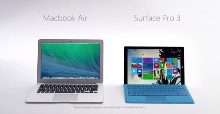 Microsoft Pits the Surface Pro 3 Against the MacBook Air in New Commercial Releases