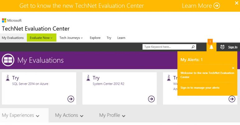 The New TechNet Evaluation Center Opens in Preparation for Windows 10