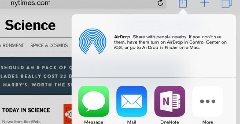 Microsoft Releases OneNote Share Extension for iOS 8