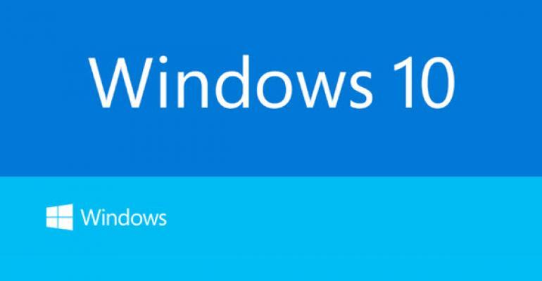 It's…Windows 10