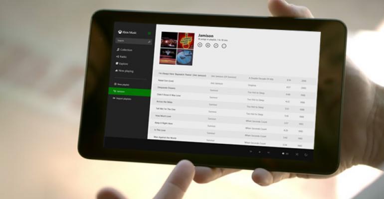 Microsoft Consumer Services: Xbox Music