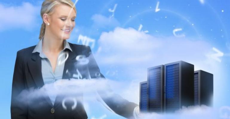 Woman managing cloud databases