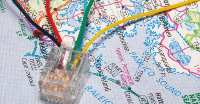 map with computer cables