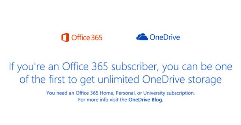 Office 365 Users Now Get Unlimited OneDrive Storage