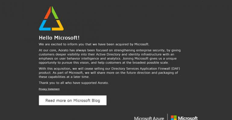 Microsoft Addresses Identity Security Through Acquisition of Aorato