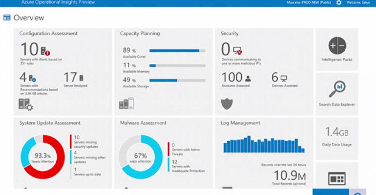 System Center Advisor Becomes Azure Operational Insights, Goes into Preview