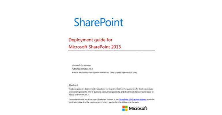 Free eBook: SharePoint 2013 Deployment Guide