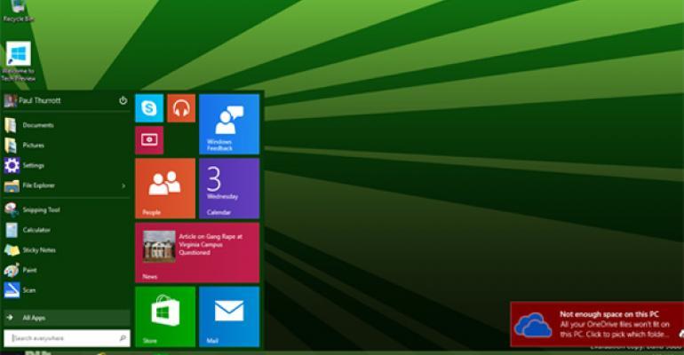 Windows 10 Build 9888 Leaks